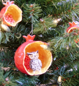Owl in a Pomegranate