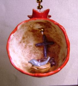 Ceramic Pomegranate Ornament