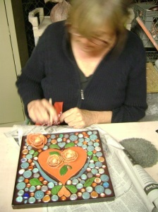 Looking Good Laurie!   That was a mosaic she made for her daughter's wedding as a gift!