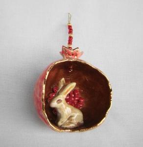 Rabbit Pomegranate Ornament