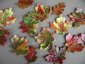 Variety of ceramic fall leaves