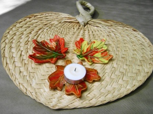 Fall Leaves votive holder