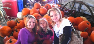 My Daughter, Shauna, grand daughter, Lola and I.