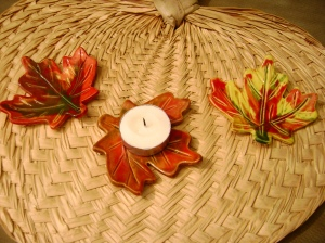 Fall Leaf Votive holders.