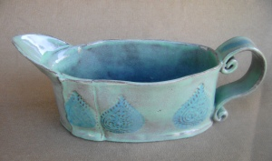 Teal and Turquoise Gravy Boat