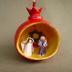 Jewish Wedding Pomegranate Ornament $45.00