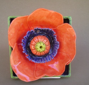 Orange Poppy Shdow Box