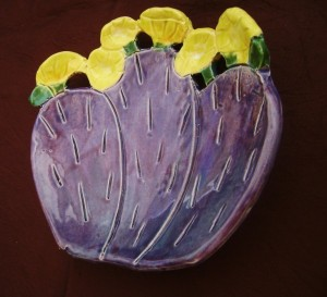 Santa Rita, Purple Prickly Pear Cactus Dish, spoon rest  $28.00
