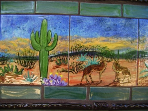 coyote mural close up