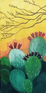 Sunrise Cactus Butte