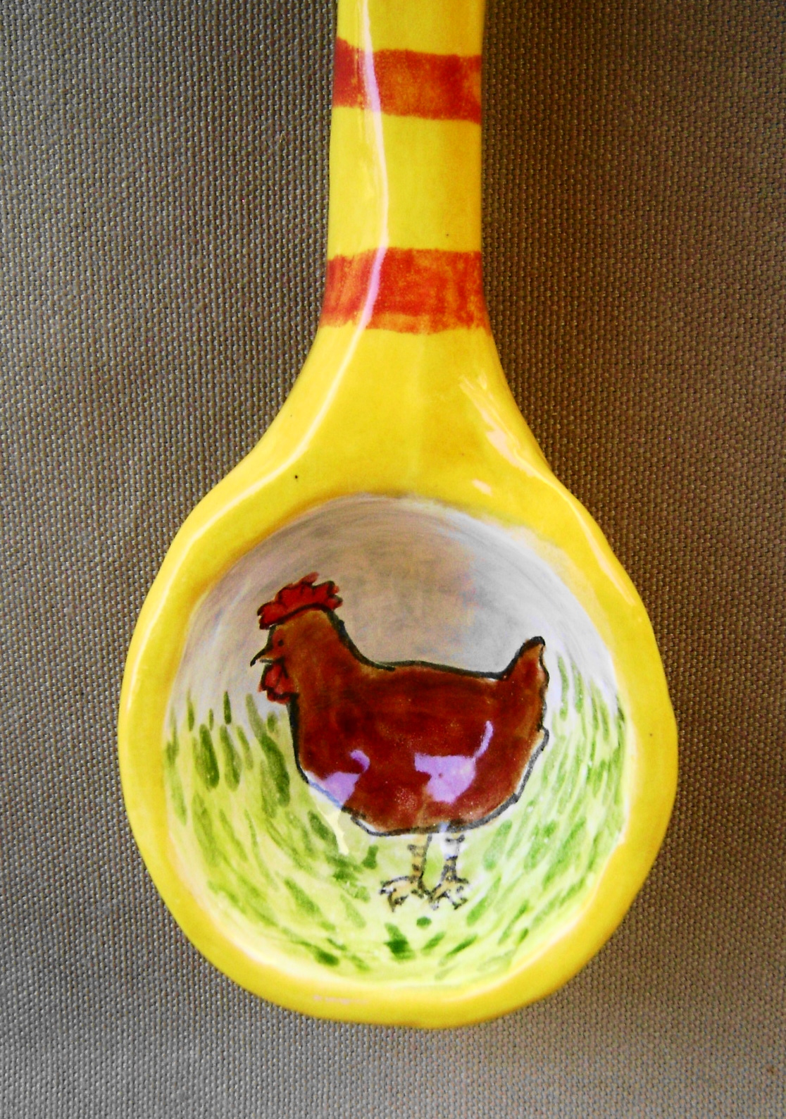 chicken spoon close up