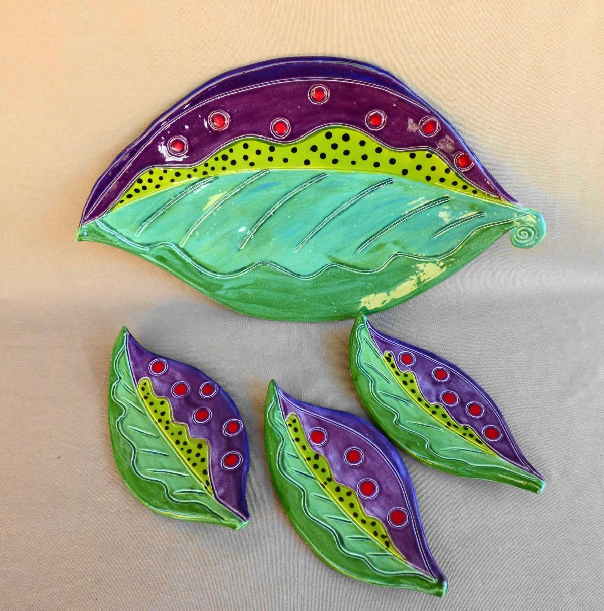 leaf platter set