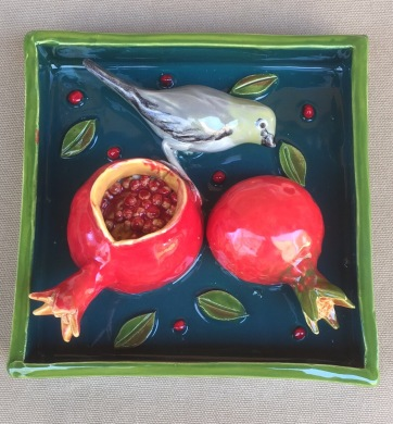 Verdin with Pomegranates