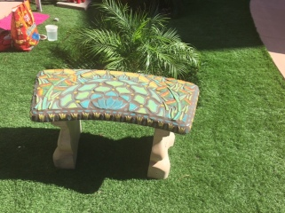 Agave Art Deco Bench