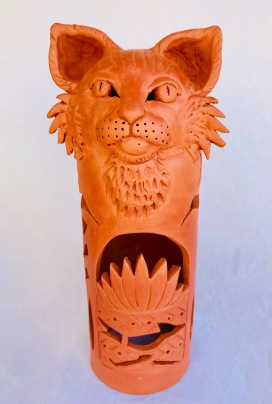 Wild Cat candle cover