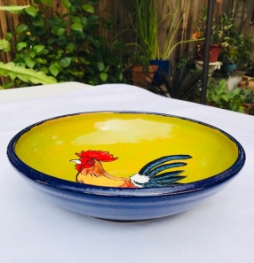 Side view of Rooster dish