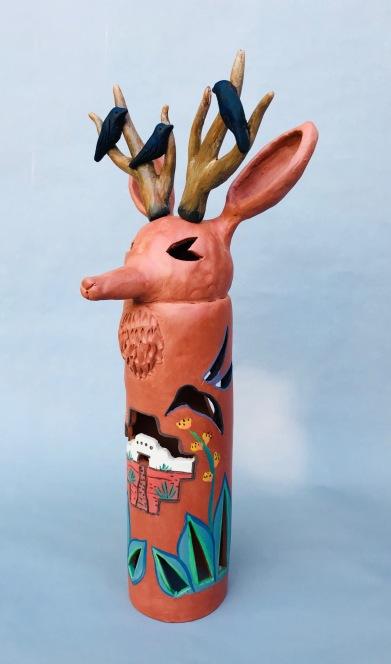 Deer with Antlers Lantern