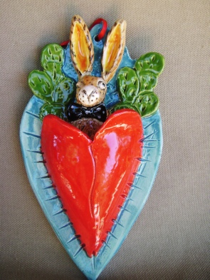 j rabbit heart bo tie