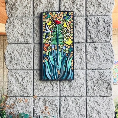 Symphony of Nature 3-D tile mosaic