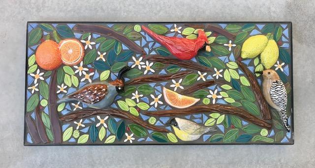 highlighted bird mosaic