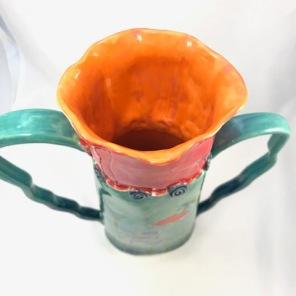 2 handled poppy vase 5