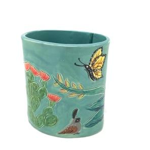 Agave Quail Vase