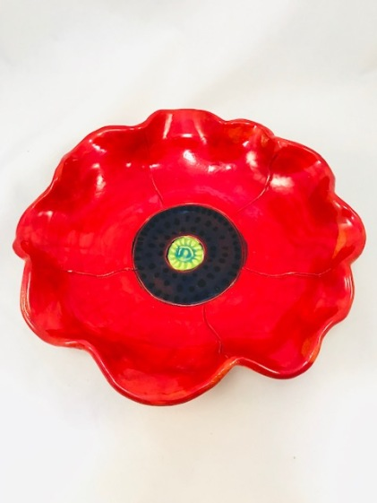really red poppy bowl 2