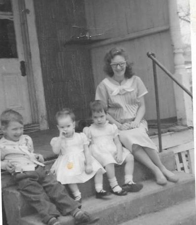 1960 mom, me, kim and Chad