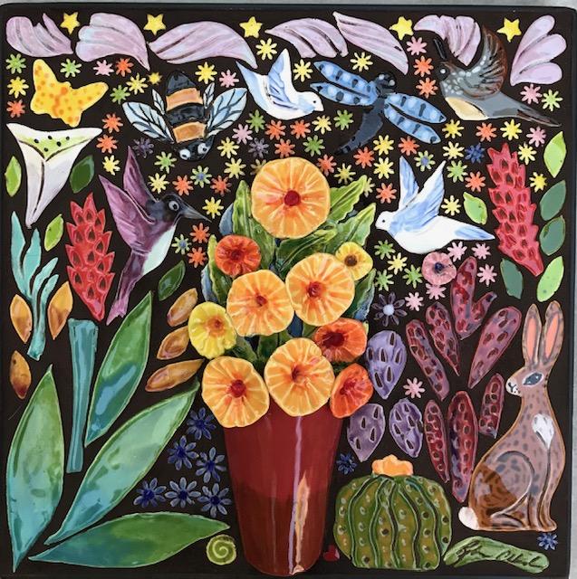 Flower Bouquet Mosaic